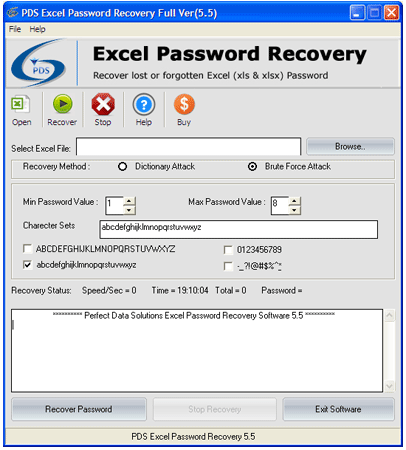 recover protected excel file