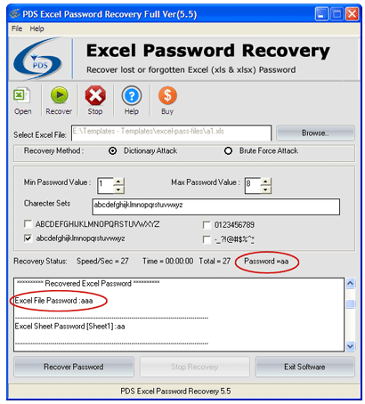 cracking xls password