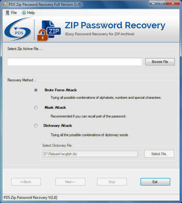 Zip Password Recovery Software helps to recover zip file